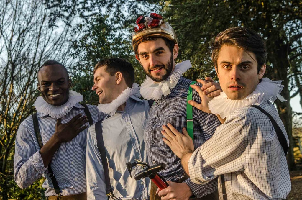 The HandleBards (L to R - Stanton Plummer-Cambridge, Paul Hilliar, Liam Mansfield, Matt Maltby)