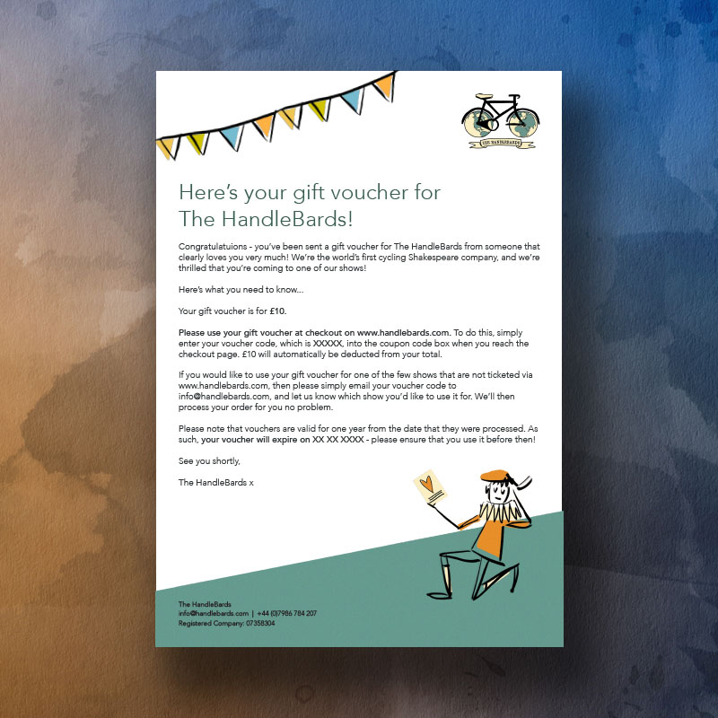 HandleBards £10 Gift Voucher