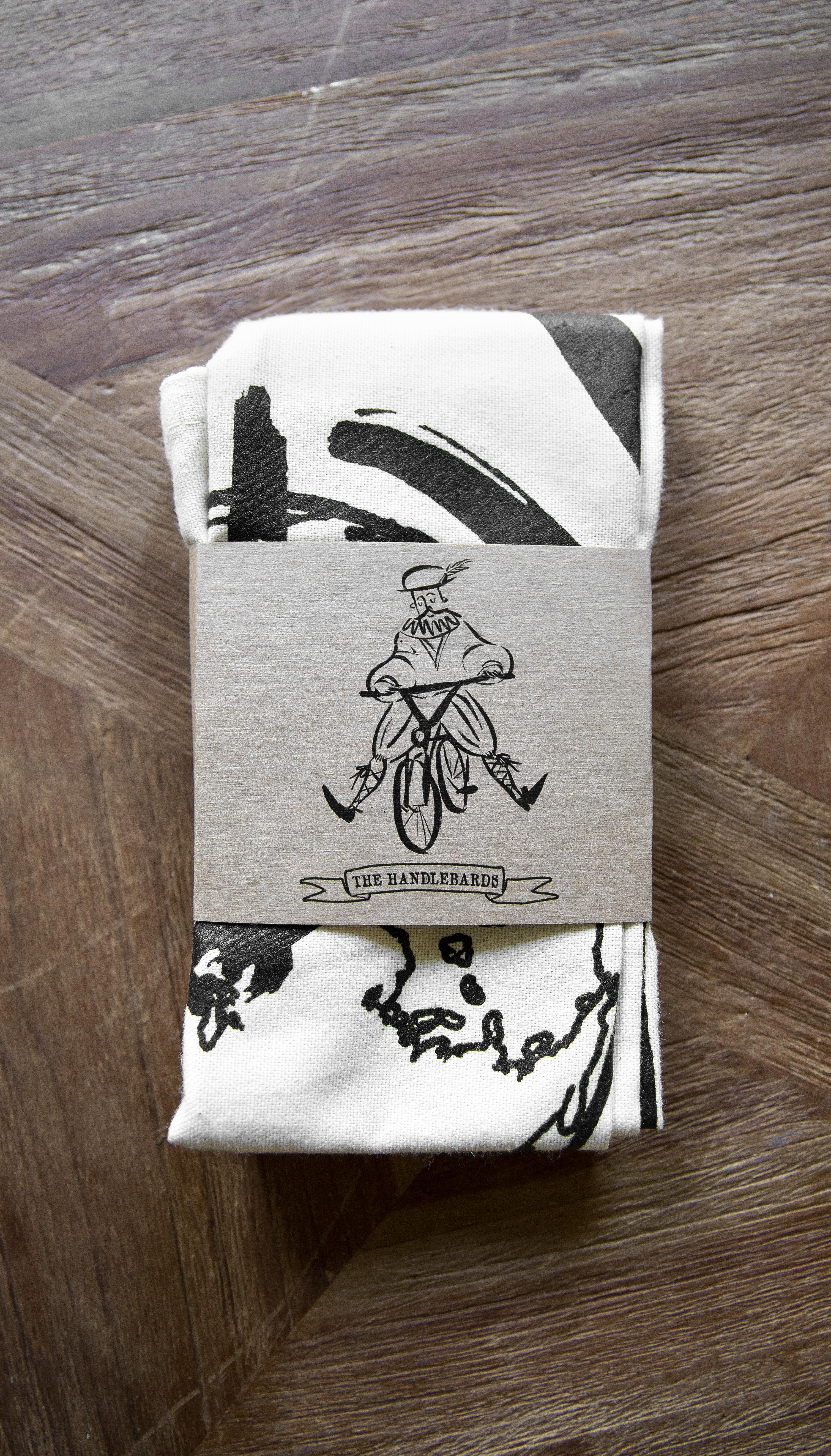 Bicycle tea towel in cardboard sleeve