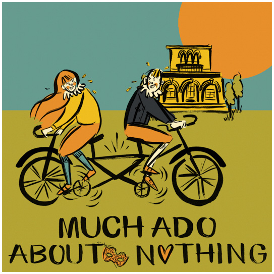 HandleBards Much Ado About Nothing White Border