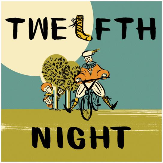 HandleBards Twelfth Night Square White Border