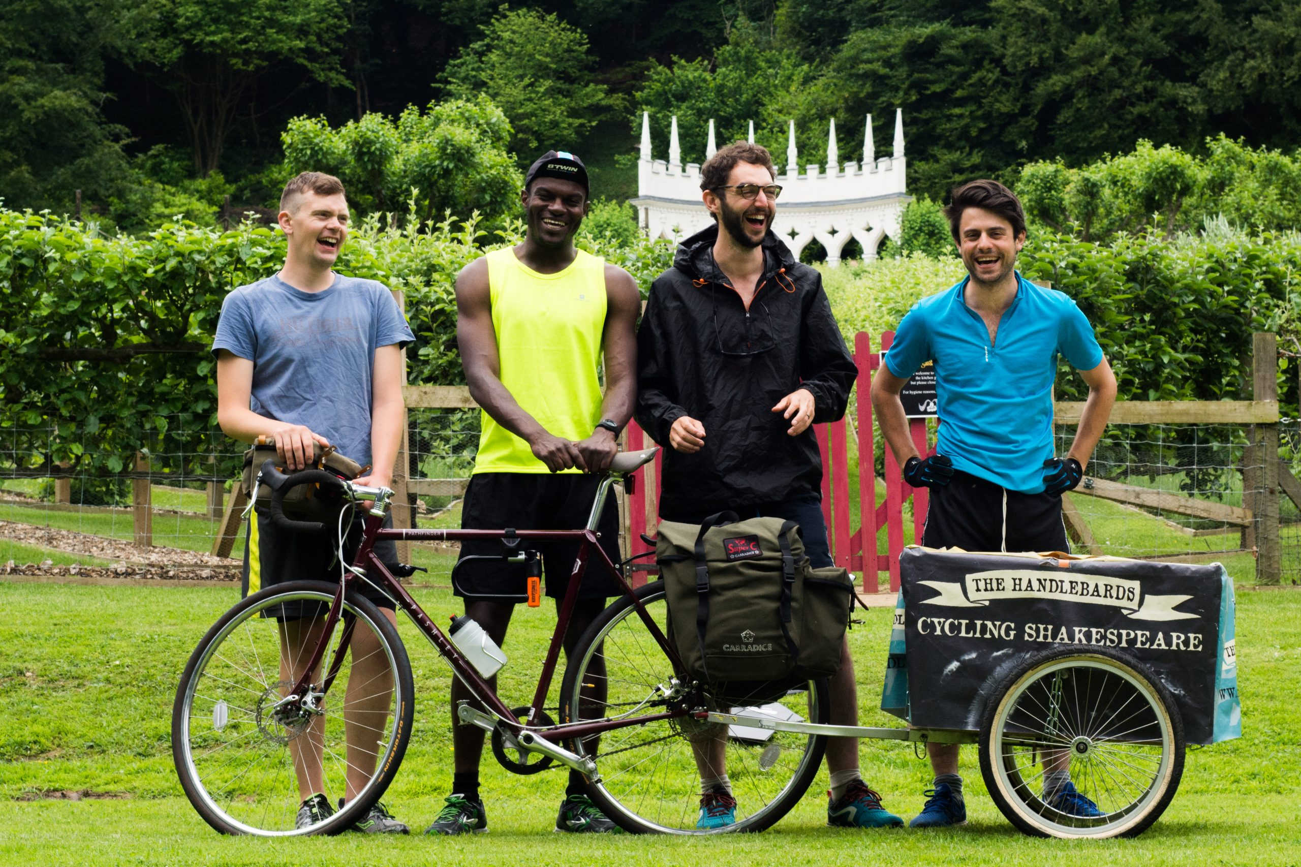 The HandleBards Boys (2016) with bicycle and trailer