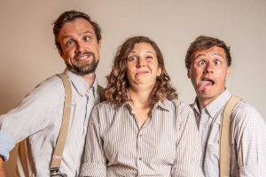 The HandleBards. L-R Tom Dixon, Lucy Green, Paul Moss. Photo Credit - Rah Petherbridge
