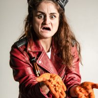 Macbeth with baked beans for blood (Kathryn Perkins) © Rah Petherbridge Photography